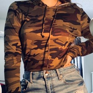 soft camouflage hooded long sleeve 🖤